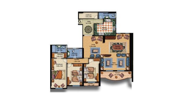 Apartment 6 Total area 276 m<sup>2</sup>