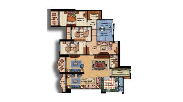 Apartment 8 Total area 302 m<sup>2</sup>